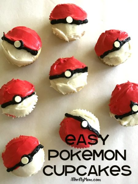 Easy Pokemon Cupcakes A Thrifty Mom Recipes Crafts