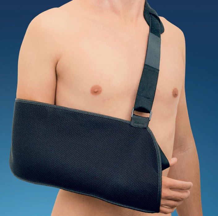 arm sling, arm trauma, post-op arm sling, shoulder trauma