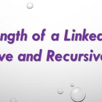 find length of the linkedlist using recursive method