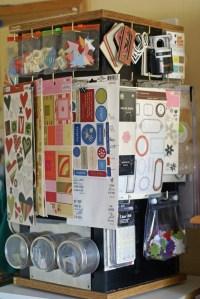 scrapbooking organizer carousel