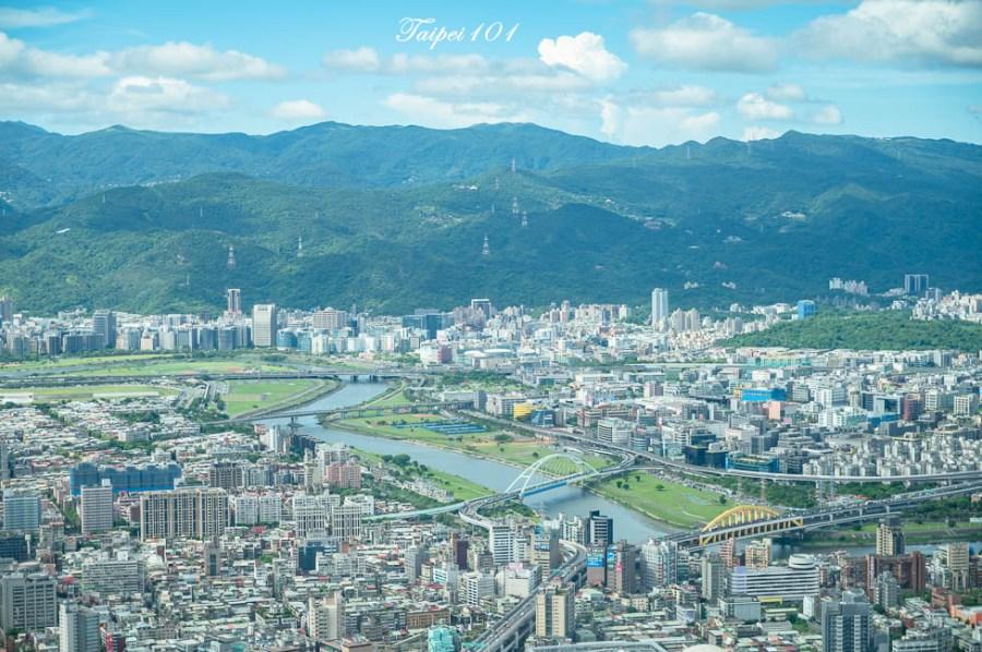  台北景點 101觀景台,搭乘星空電梯登上89樓觀景台,眺望整個台北地區景色