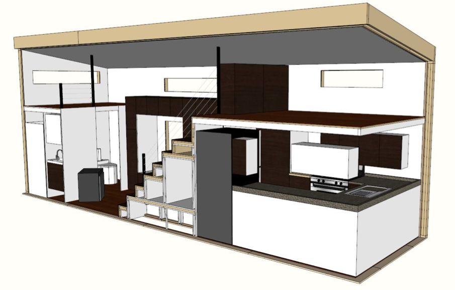 Modern Tiny House On Wheels Concept And Plan
