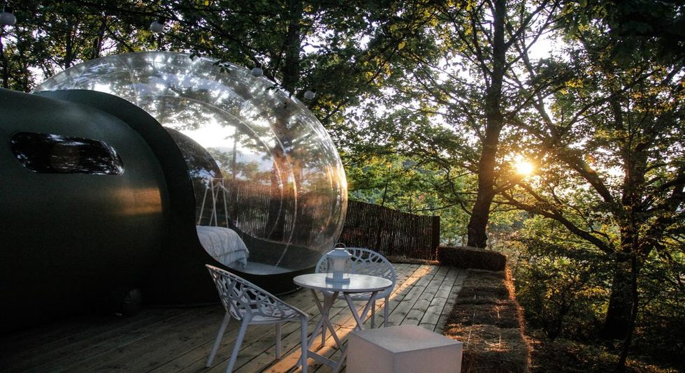 Bubble room glamping