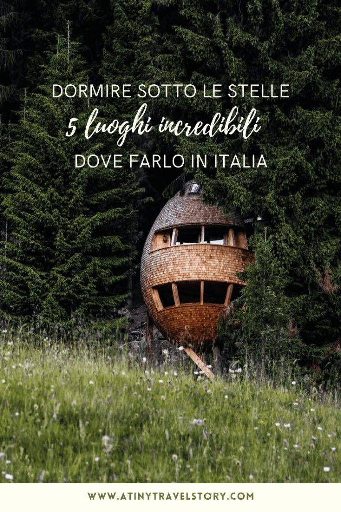 Glamping dormire sotto le stelle Italia