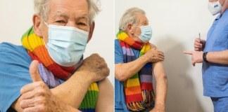 Ian McKellen foi um dos primeiros a receber a vacina