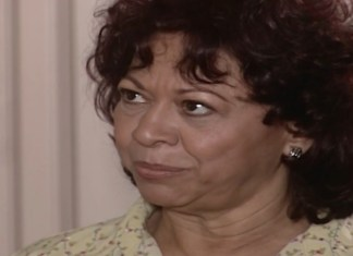 Manoelita Lustosa interpretando Inês em 'Mulheres Apaixonadas' (Canal Viva)