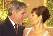 César (José Mayer) e Helena (Christiane Torloni) em 'Mulheres Apaixonadas' (Canal Viva)
