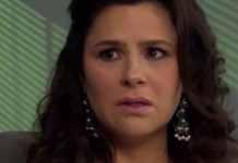 Monika Sánchez interpretando Cristina em 'Amores Verdadeiros' (Sbt)
