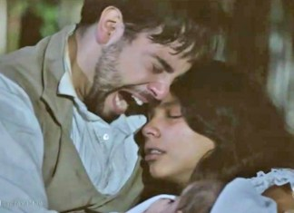Miguel (Pedro Carvalho) e Juliana (Gabriela Moreyra) em 'Escrava Mãe' (Record)