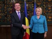 Primirea de către prim-ministrul României Viorica Dăncilă a ministrului afacerilor externe al Republicii Letonia, Edgars Rinkēvičs
