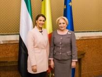 Primirea  ministrului de stat pentru siguranță alimentară din Emiratele Arabe Unite, doamna Mariam bint Mohammed Saeed Hareb Al Mehairi, de către prim-ministrul Viorica Dăncilă