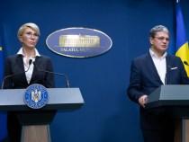 Declarații de presă susținute de vicepremierul Raluca Turcan și ministrul fondurilor europene, Marcel Boloș