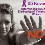 25 noiembrie, ziua internaţională pentru încetarea violenţei împotriva femeilor