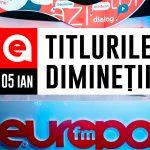 05 IANUARIE 2021: Titlurile dimineții, la Europa FM