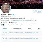 Twitter elimină din mesajele lui Donald Trump