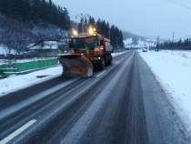 Poliția Rutieră recomandă prudență sporită  și reamintește că utilizarea anvelopelor de iarnă este obligatorie