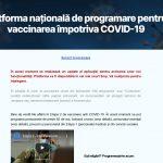 Pauză pentru platforma națională de programare pentru vaccinarea împotriva COVID-19