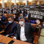 Protest PSD în Parlament. Social-democrații vor să depună moțiune împotriva ministrului Sănătății