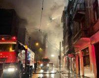 Incendiu puternic în apropierea Gării de Nord din București
