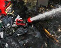 Brăila: Incendiu puternic la un service auto