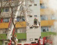 Simulare de incendiu la Spitalul Județean din Vaslui