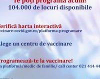 Vaccinare fără programare, cu serul de la AstraZeneca, de mâine