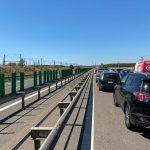 Pentru a elimina blocajele, traficul a fost deviat pe podul de la Cernavodă