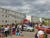 Constanța: Incendiu într-un cartier de locuințe sociale
