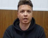 O înregistrare video în care apare Roman Protasevici, tânărul jurnalist din Belarus, a fost dată publicităţii