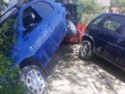 Mocănița din Apuseni a lovit două mașini, la 4 zile de la reluarea curselor între Câmpeni și Abrud