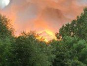 Incendiu puternic la o o fabrică de materiale de construcții  din Constanța