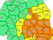 Noi avertizări de vielii şi grindină până joi dimineaţă în judeţe din centrul, estul şi sud-estul ţării