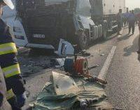 Dâmbovița: Trafic blocat pe ambele sensuri pe DN 72 din cauza unui accident
