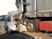 Trafic blocat pe DN 65-E din cauza unui accident la ieșirea din orașul Balș