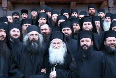 Parintele Justin Parvu si monahii