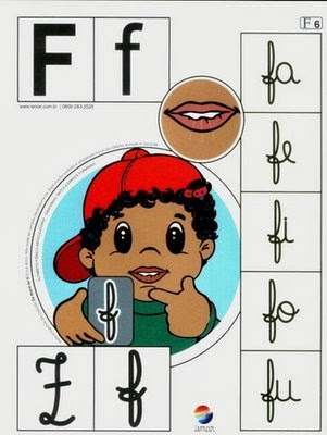 Alfabeto colorido f