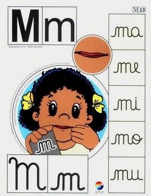 Alfabeto colorido m
