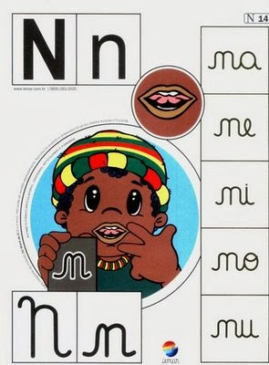 Alfabeto colorido n