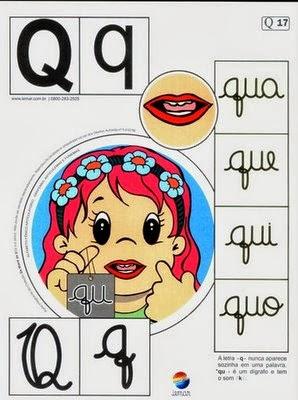 Alfabeto colorido q