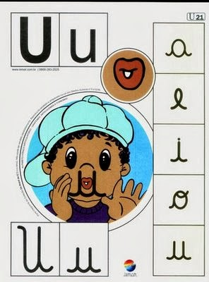 Alfabeto colorido u