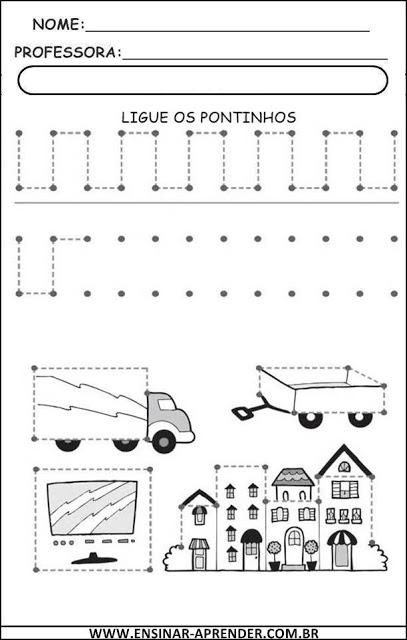 Atividade educação infantil coordenação motora