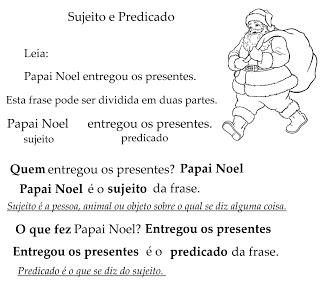 Sujeito Predicado Atividades Ling Portuguesa Imprimir  (3)