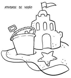 Verão Desenhos Atividades praia férias brincadeiras colorir Imprimir (51)