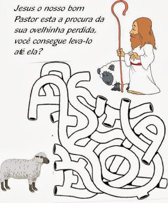 atividades labirinto bom pastor
