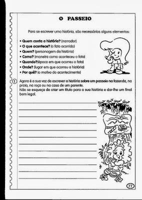 exercicio de portugues producao de texto
