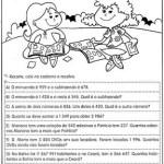 Atividades de matemática – 4 ano