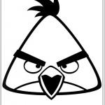 Desenho do Angry Birds para colorir