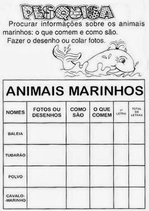 Atividade dia dos animais 4 de outubro