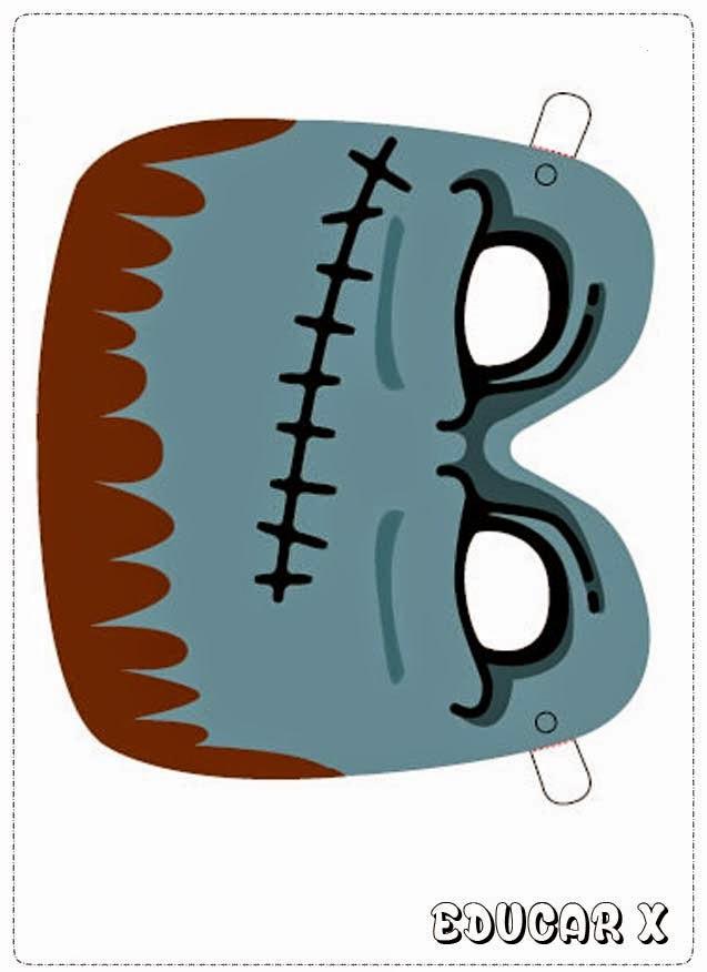 Máscara coloridas para o carnaval
