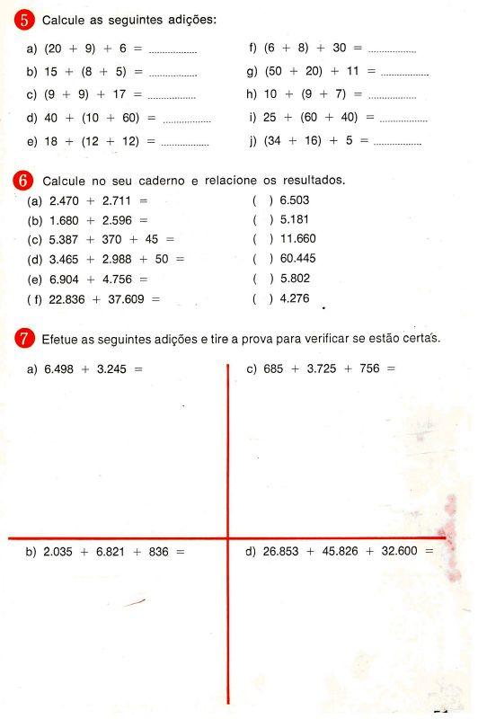Exercícios de matemática de raciocínios